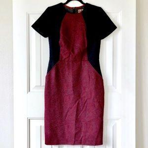 Boden Tweed Short Sleeve Knee Length Dress